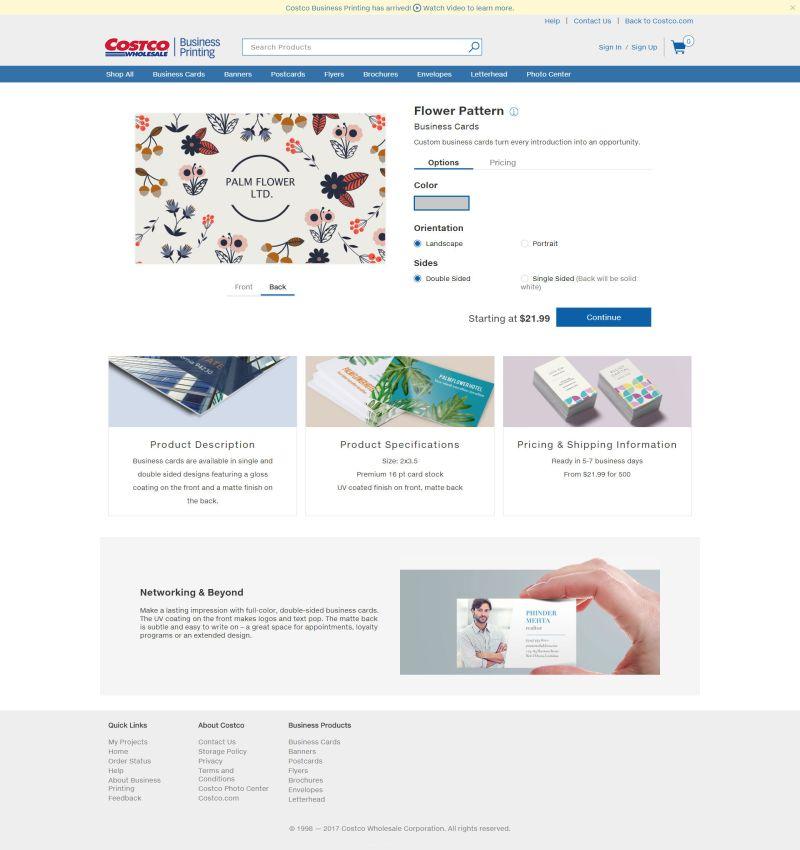 Costco Business Printing   Folio and CV